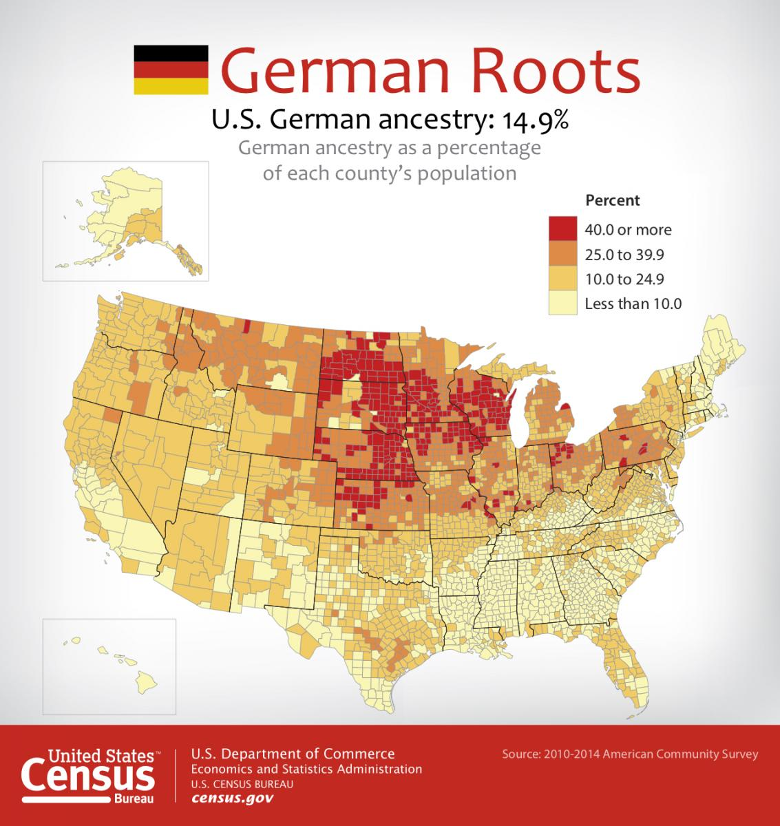 German Roots by county