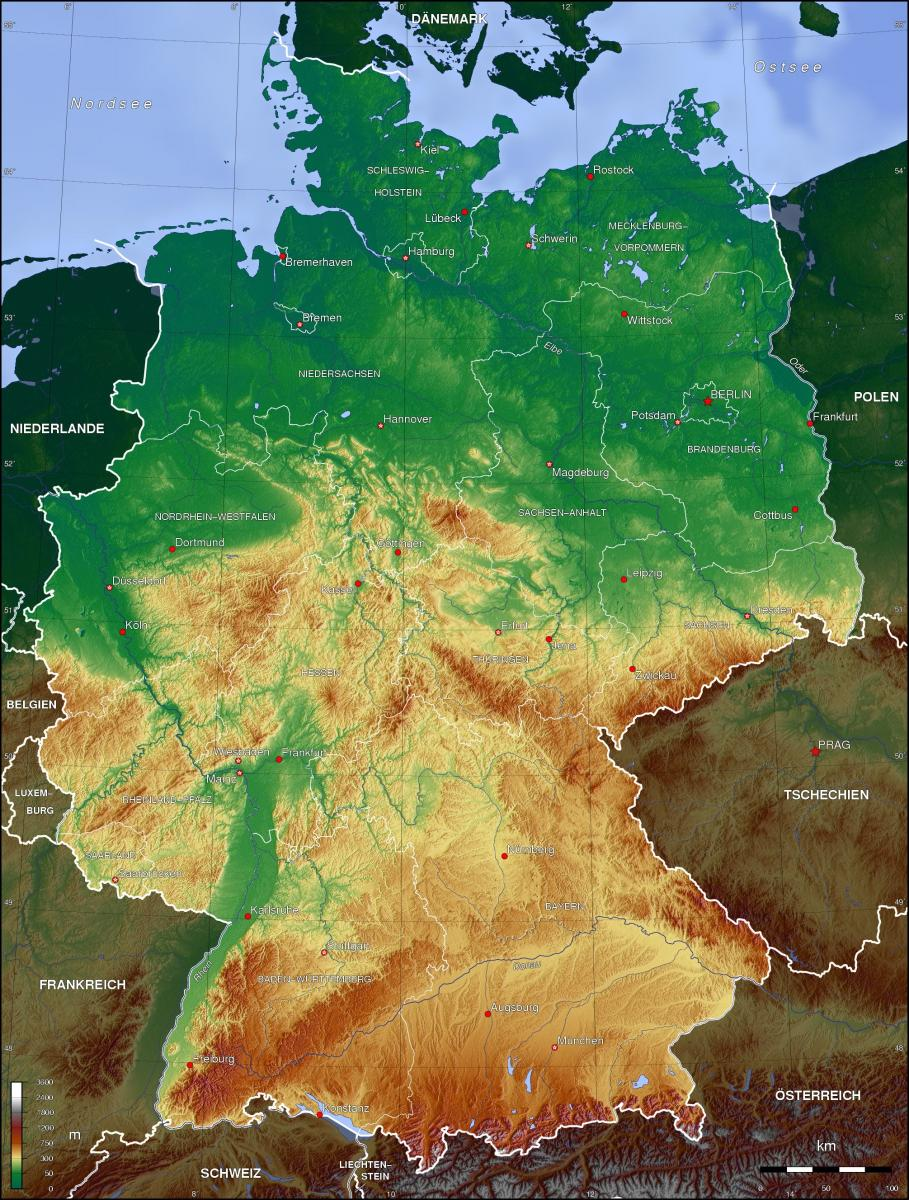 German topographical map