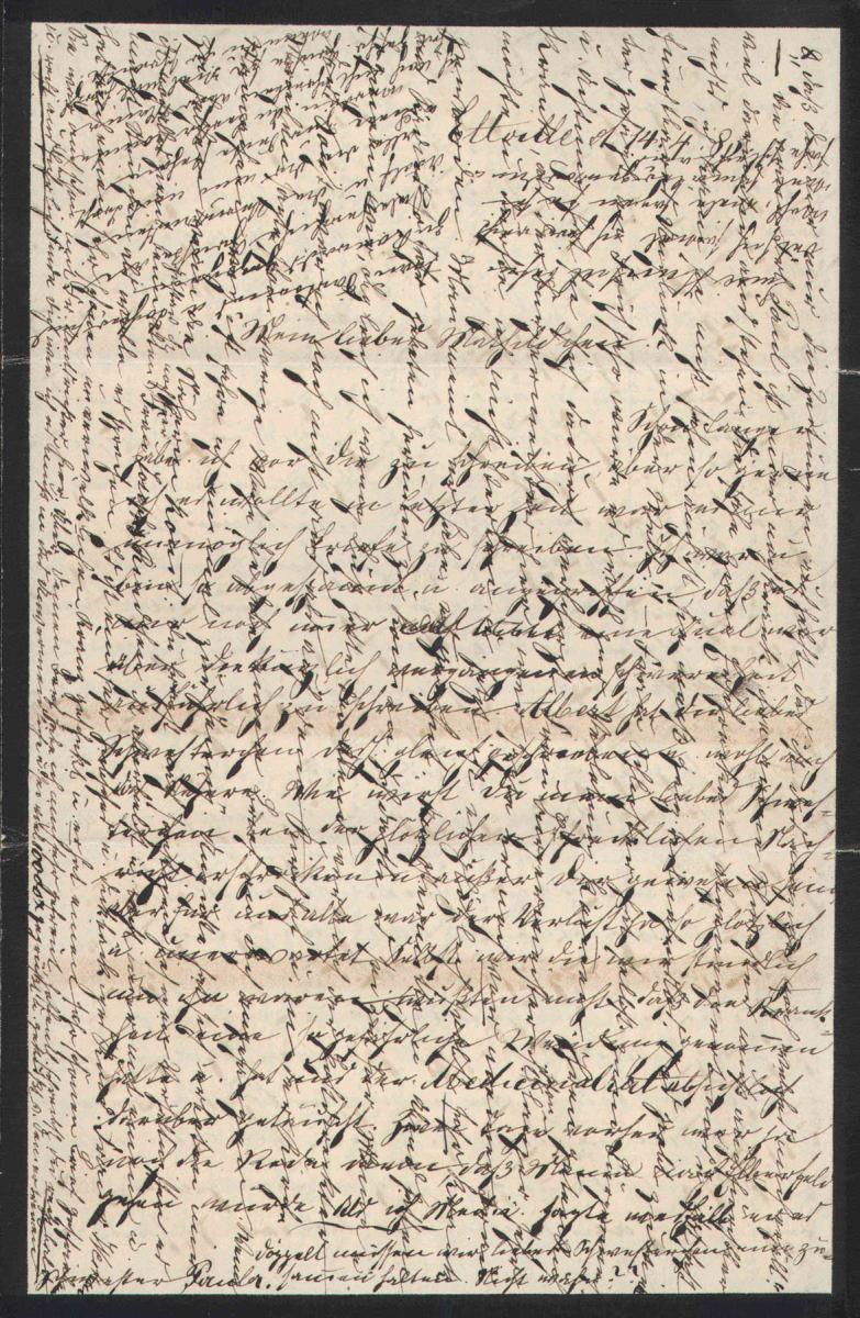 crosswritten letter