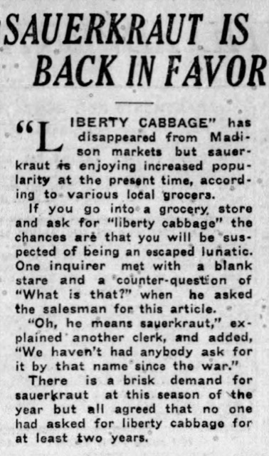 WI State Journal, 1/29/1922